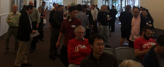 The crowd at this morning's talk