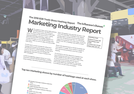 The 2018 B2B Hashtag Report provides on the top 150 B2B hashtags in 4 industries.